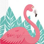 Flamingo serviete z poslikavo pink flaminga