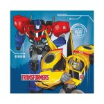 Transformers prticki v modri barvi z Bee in Optimos Prime